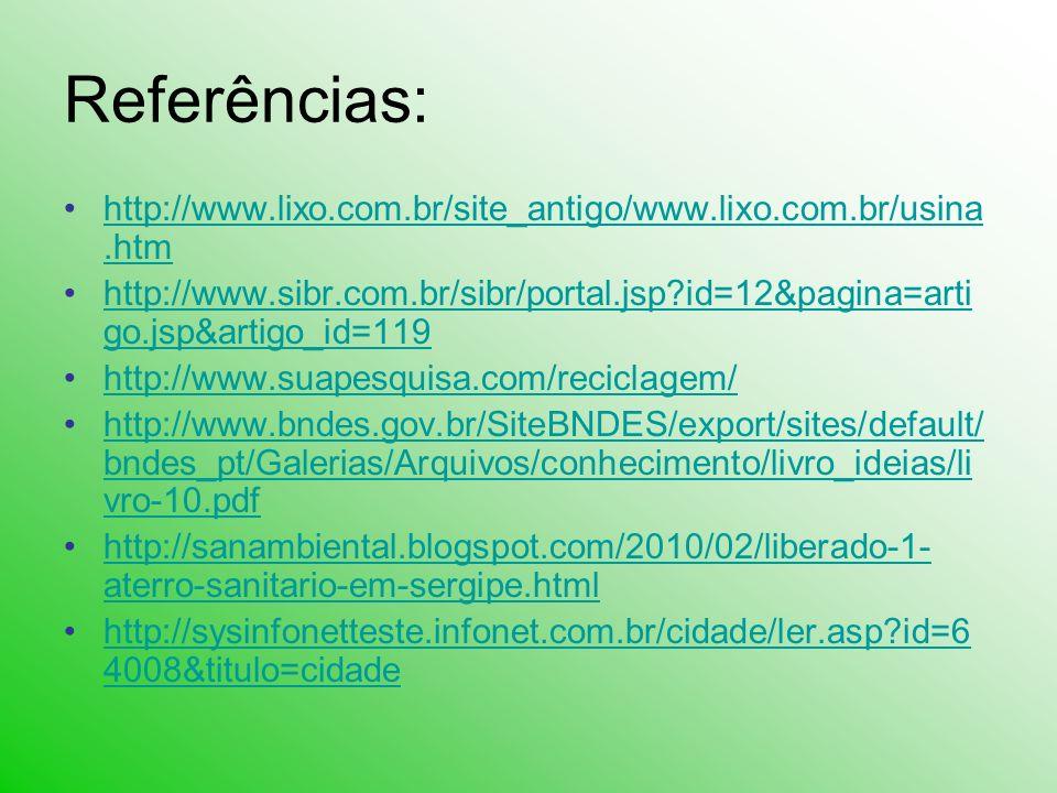 Referências: http://www.lixo.com.br/site_antigo/www.lixo.com.br/usina.htm.