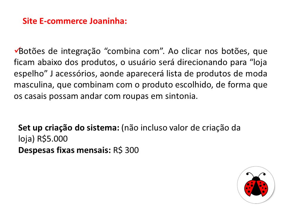 Site E-commerce Joaninha: