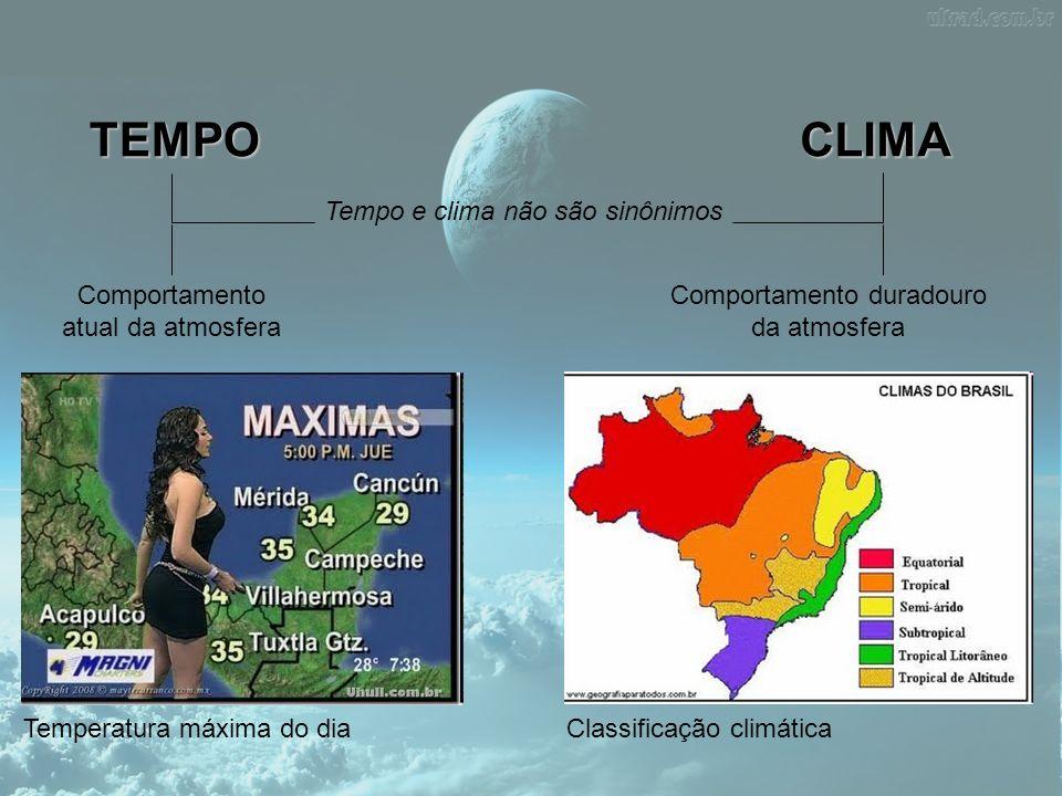 TEMPO CLIMA Tempo e clima não são sinônimos