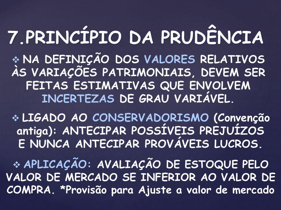 7.PRINCÍPIO DA PRUDÊNCIA