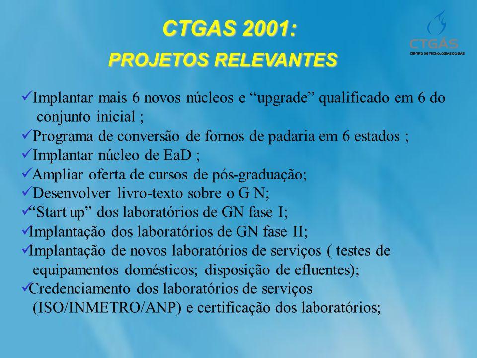 CTGAS 2001: PROJETOS RELEVANTES