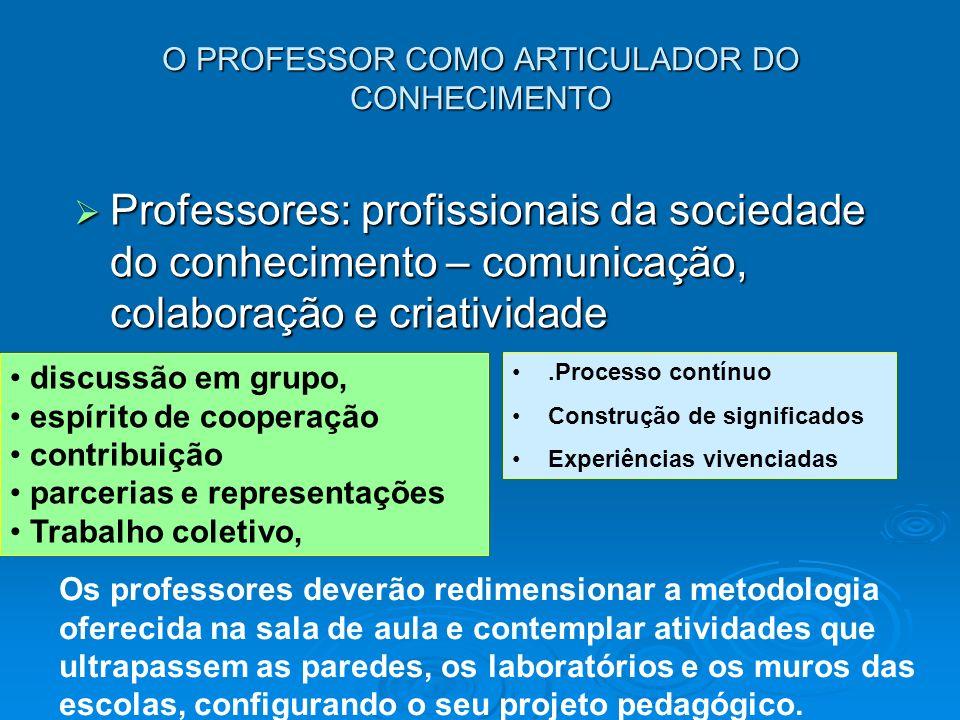O PROFESSOR COMO ARTICULADOR DO CONHECIMENTO