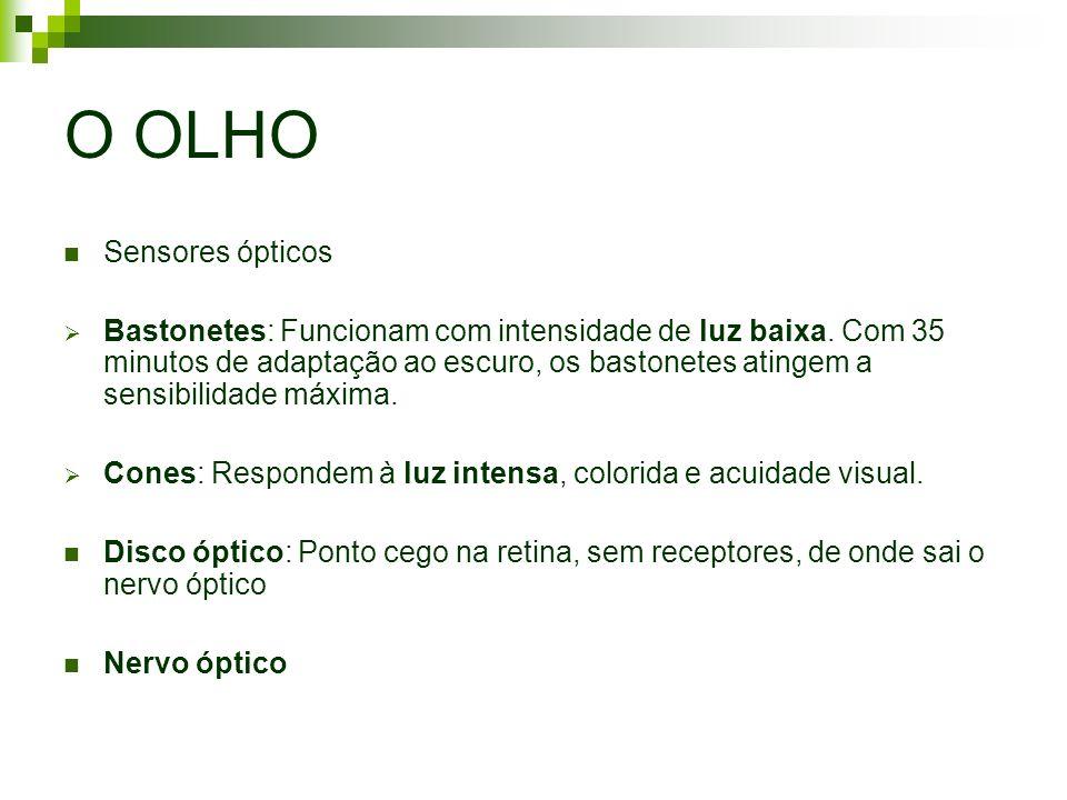 O OLHO Sensores ópticos