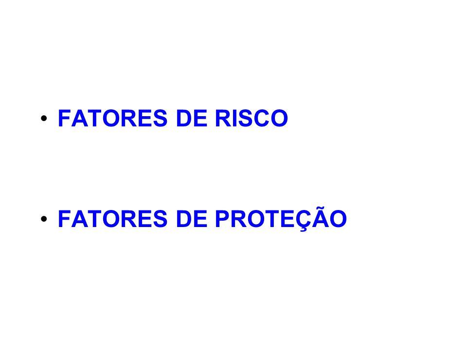 FATORES DE RISCO FATORES DE PROTEÇÃO