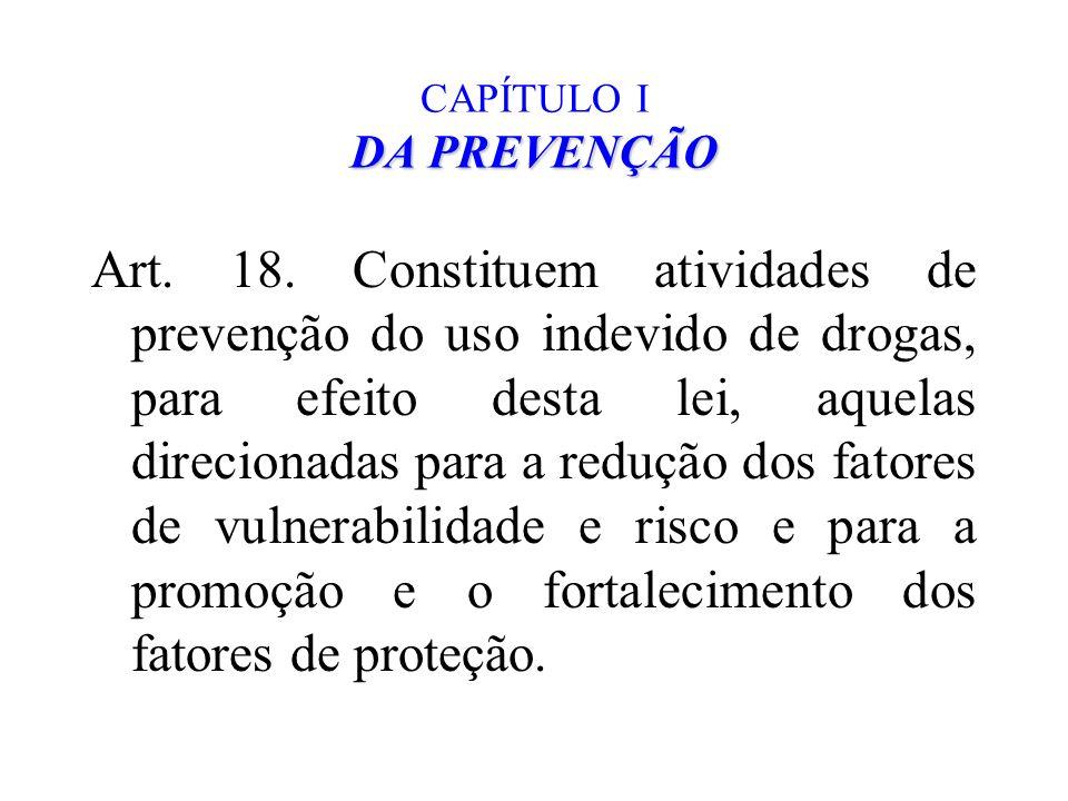 CAPÍTULO I DA PREVENÇÃO