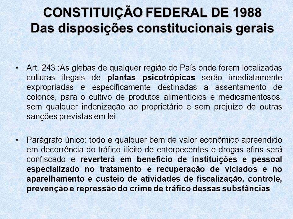 CONSTITUIÇÃO FEDERAL DE 1988 Das disposições constitucionais gerais