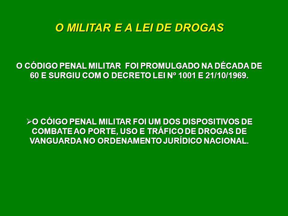 O MILITAR E A LEI DE DROGAS