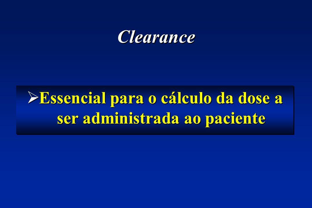 Essencial para o cálculo da dose a ser administrada ao paciente