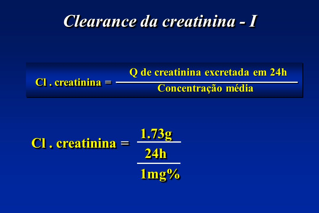 Clearance da creatinina - I