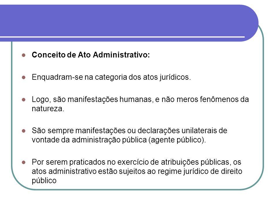 Conceito de Ato Administrativo: