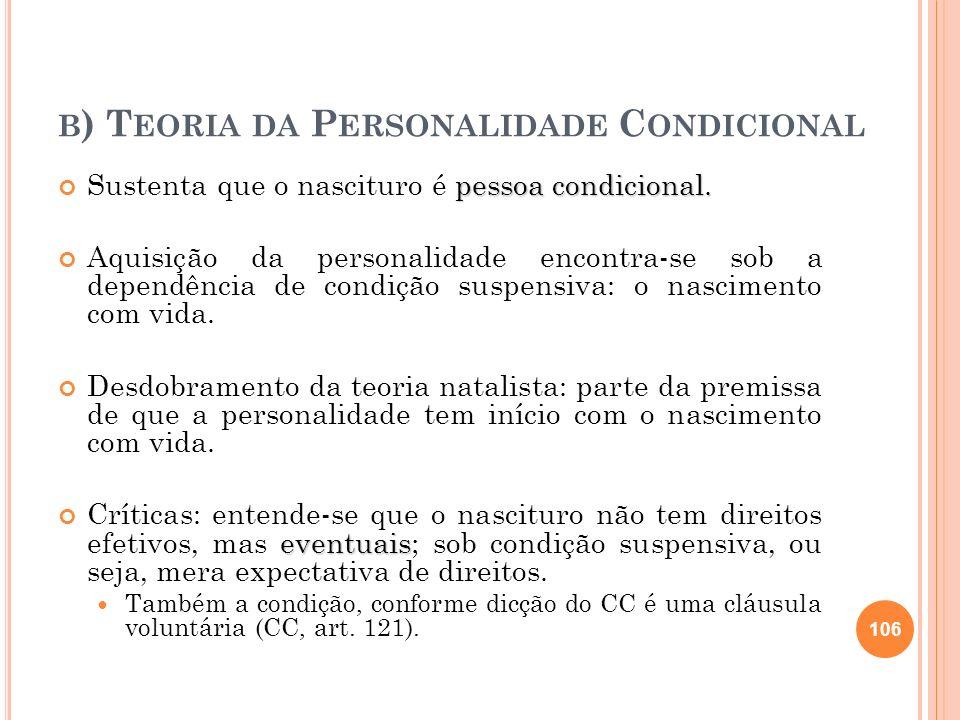 b) Teoria da Personalidade Condicional