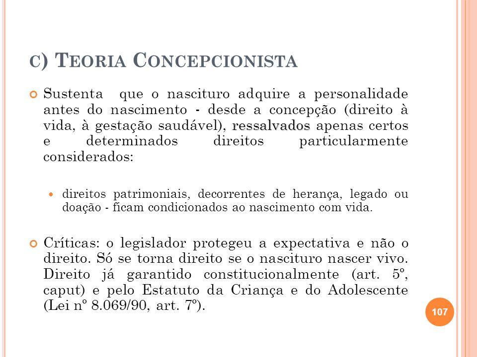 c) Teoria Concepcionista