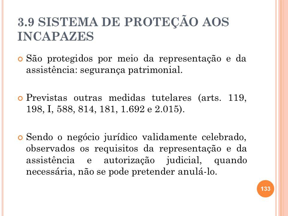 3.9 SISTEMA DE PROTEÇÃO AOS INCAPAZES