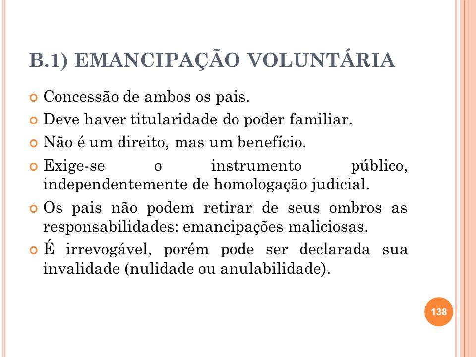 B.1) EMANCIPAÇÃO VOLUNTÁRIA