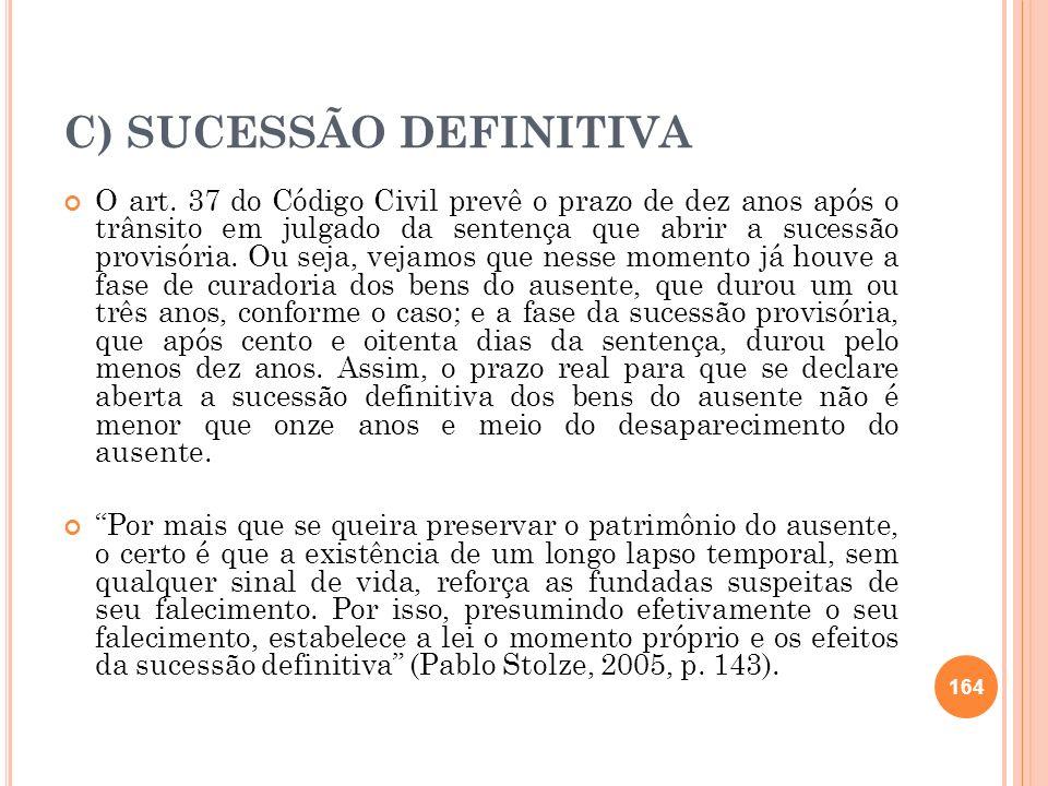 C) SUCESSÃO DEFINITIVA