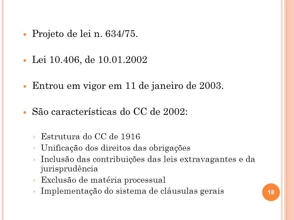 Entrou em vigor em 11 de janeiro de 2003.