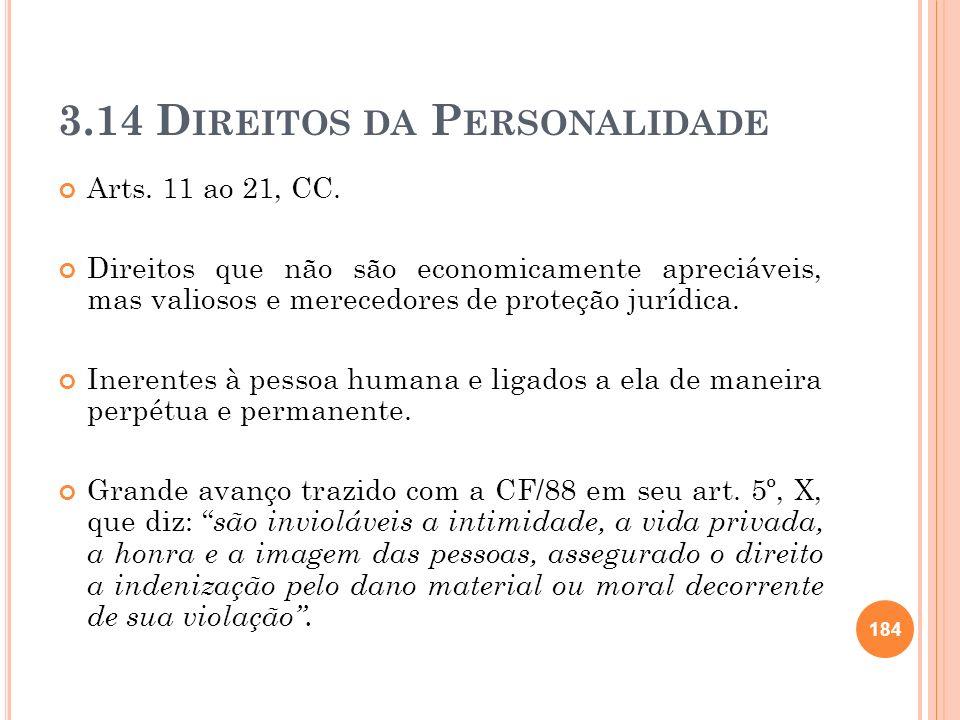3.14 Direitos da Personalidade