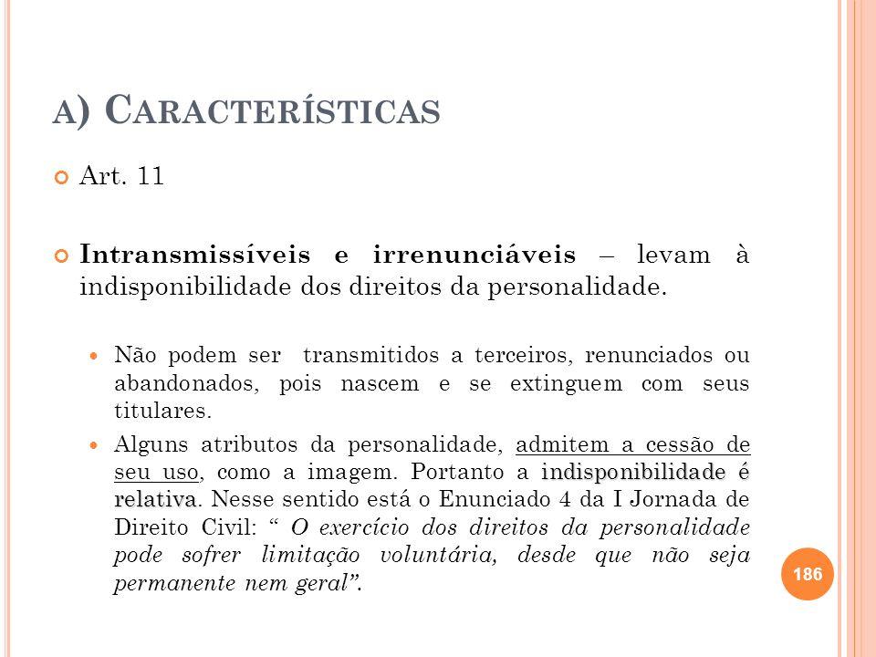 a) Características Art. 11