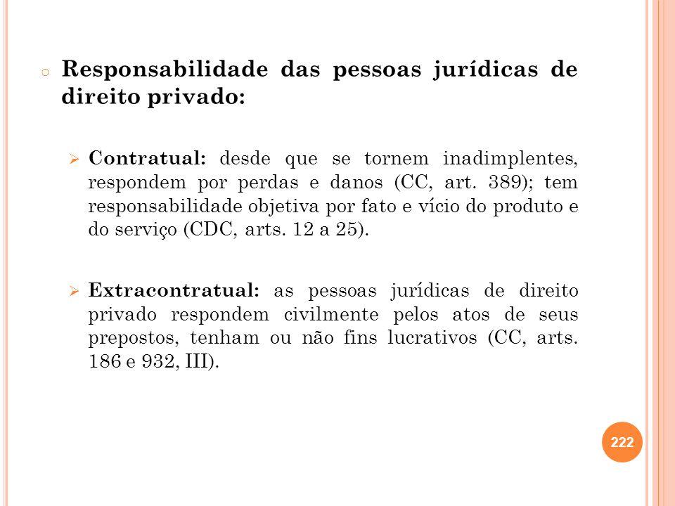 Responsabilidade das pessoas jurídicas de direito privado: