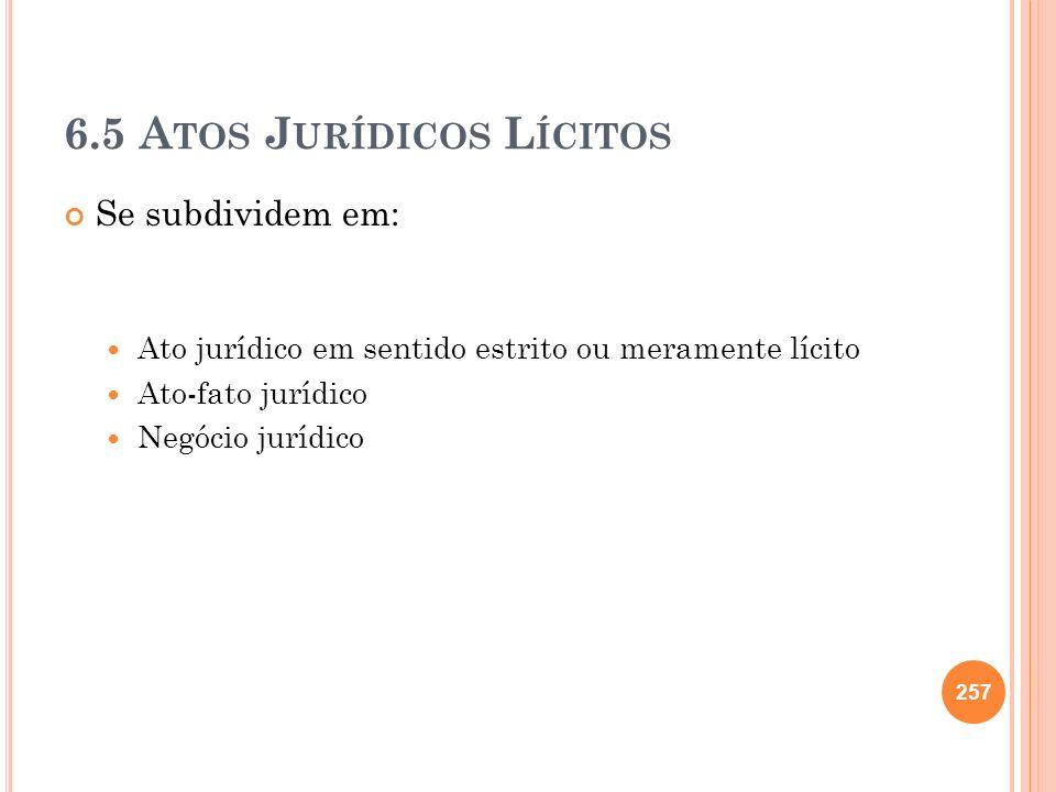 6.5 Atos Jurídicos Lícitos