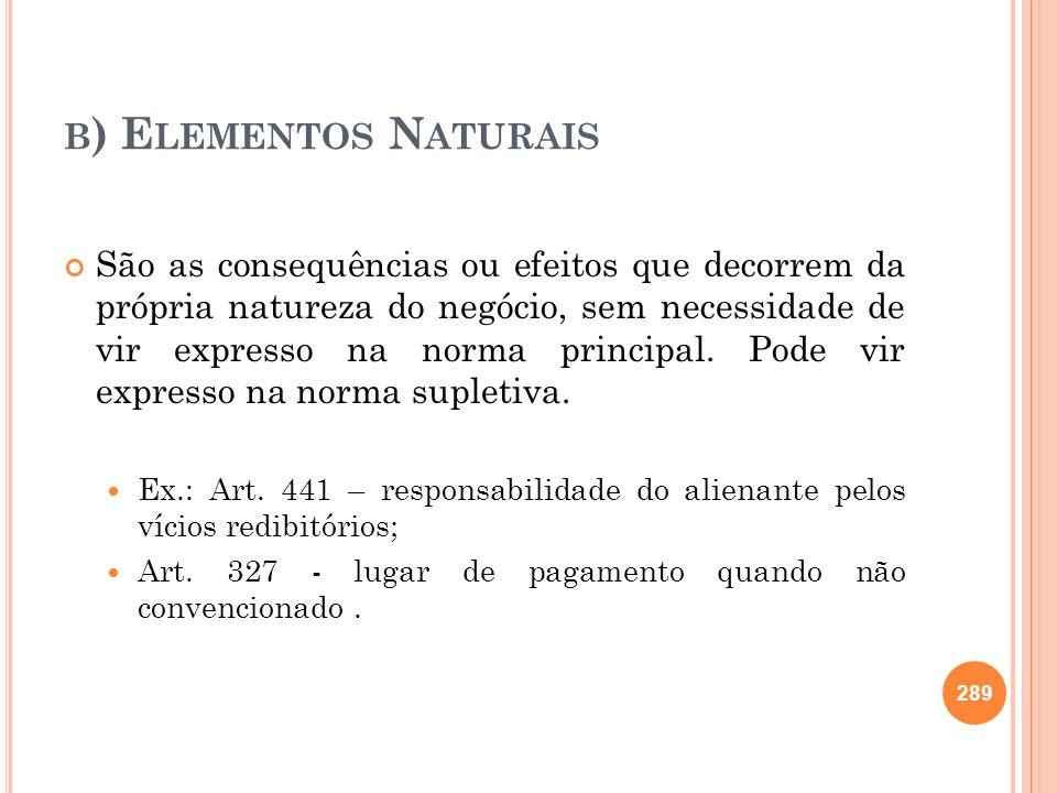 b) Elementos Naturais