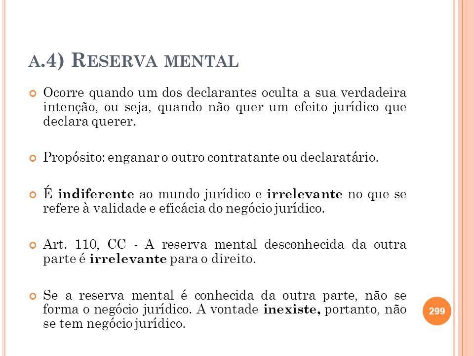 a.4) Reserva mental