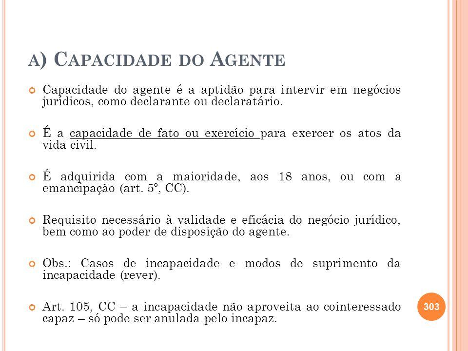 a) Capacidade do Agente