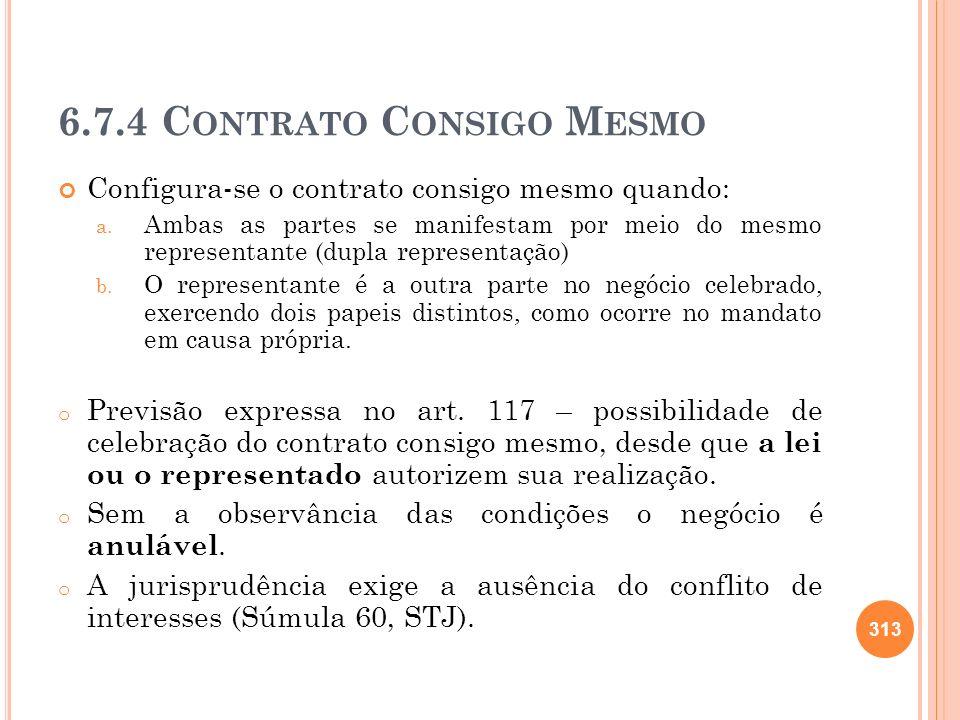 6.7.4 Contrato Consigo Mesmo