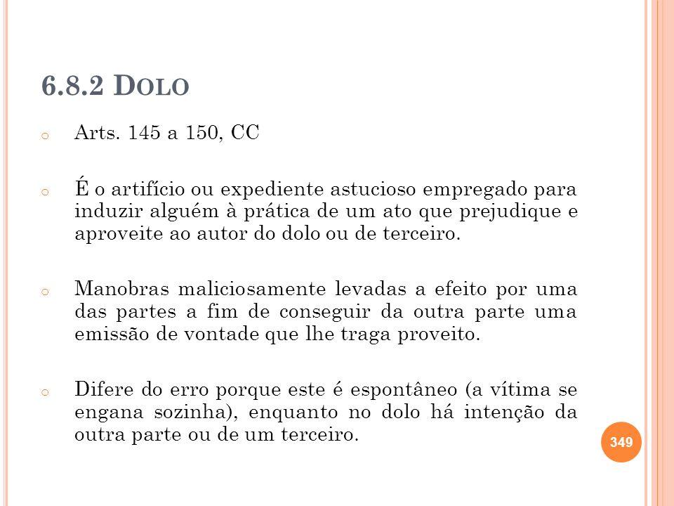6.8.2 Dolo Arts. 145 a 150, CC.