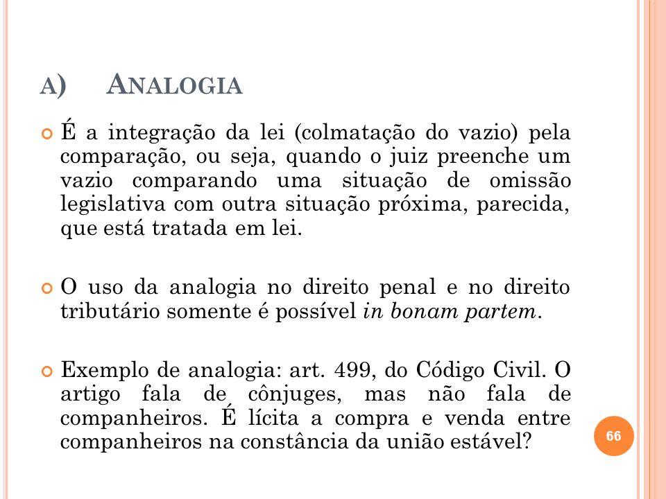 a) Analogia