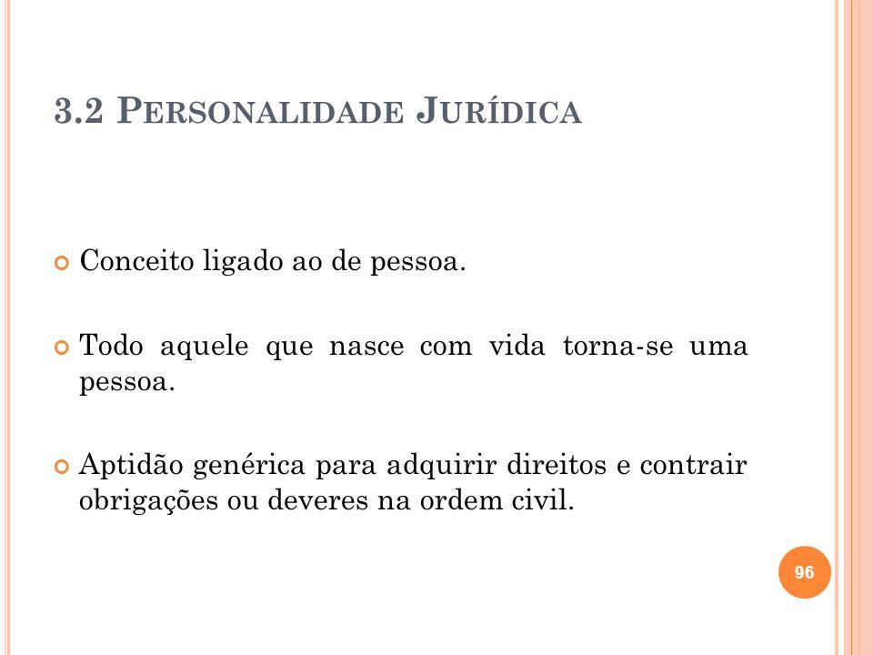 3.2 Personalidade Jurídica