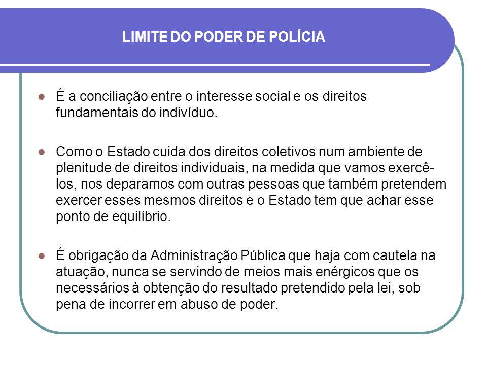 LIMITE DO PODER DE POLÍCIA