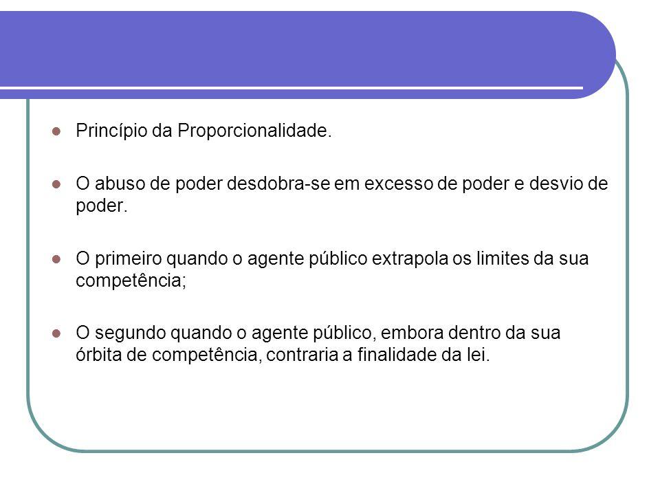 Princípio da Proporcionalidade.