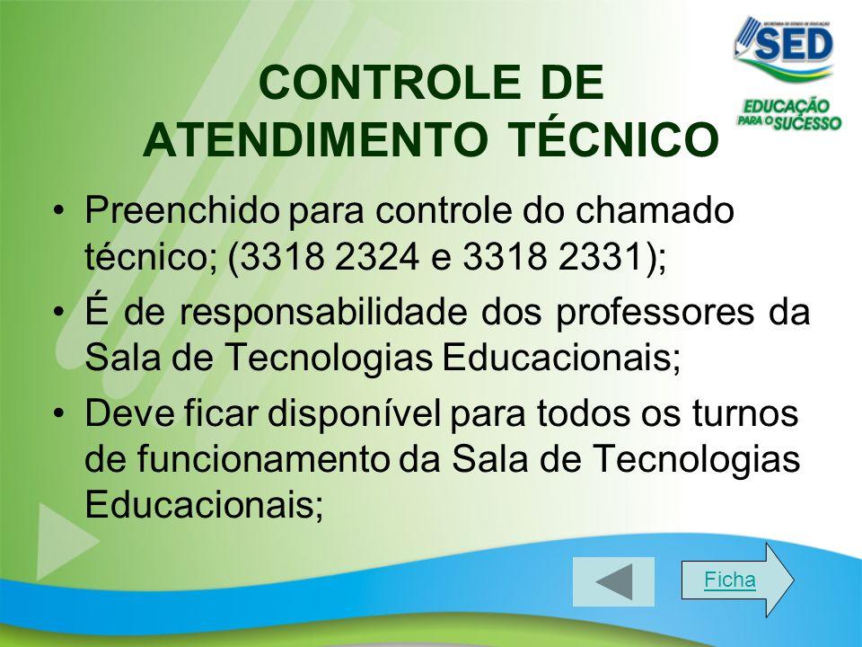 CONTROLE DE ATENDIMENTO TÉCNICO