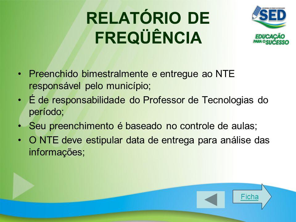 RELATÓRIO DE FREQÜÊNCIA