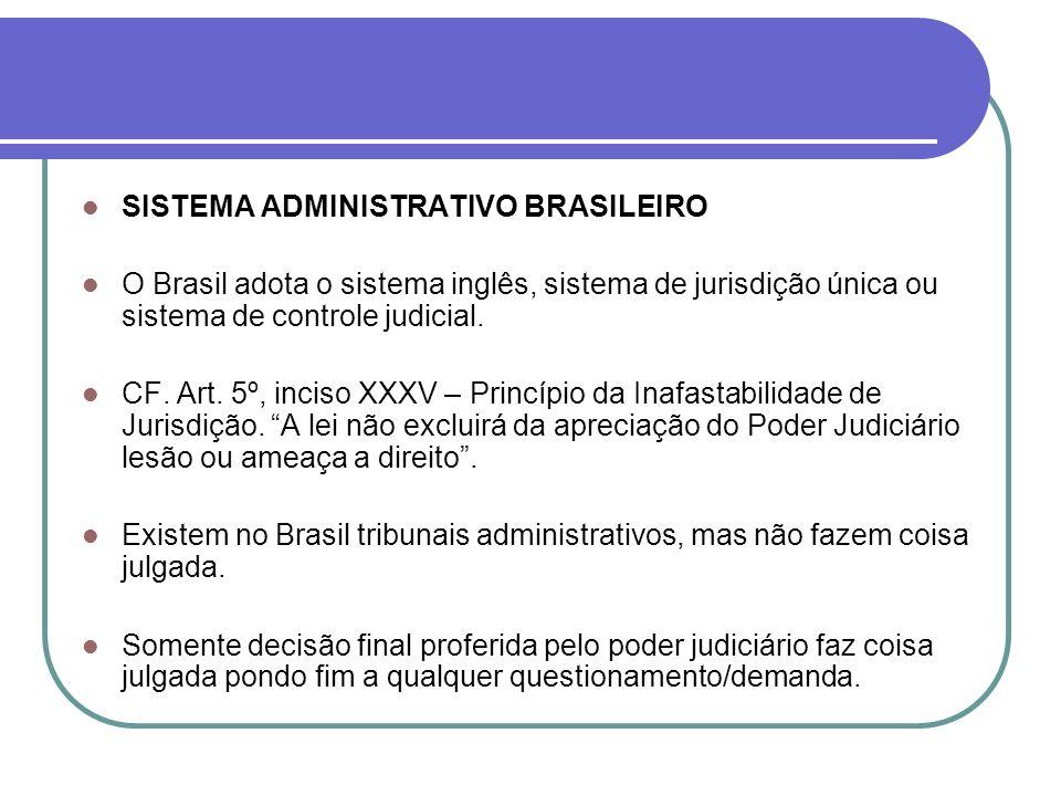 SISTEMA ADMINISTRATIVO BRASILEIRO