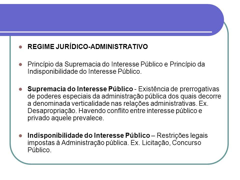 REGIME JURÍDICO-ADMINISTRATIVO