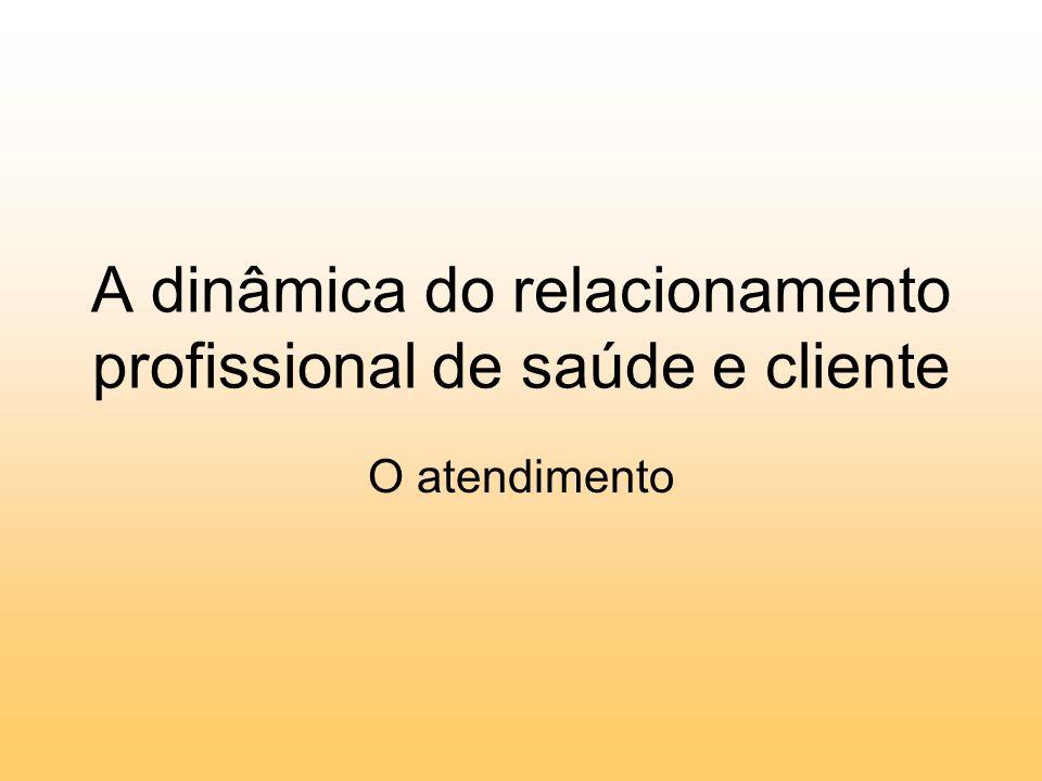 A dinâmica do relacionamento profissional de saúde e cliente