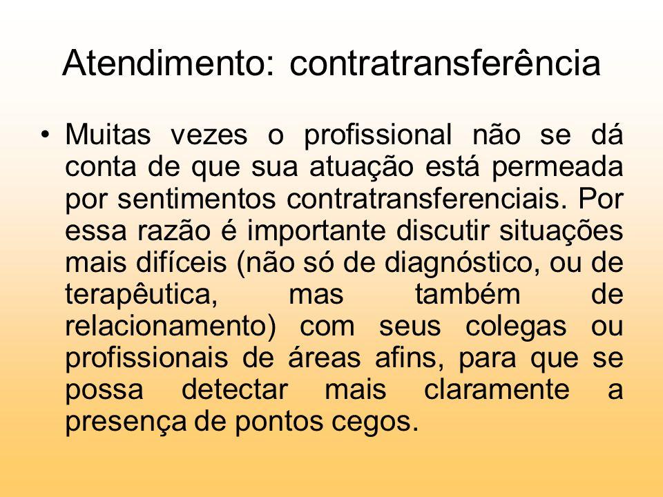 Atendimento: contratransferência