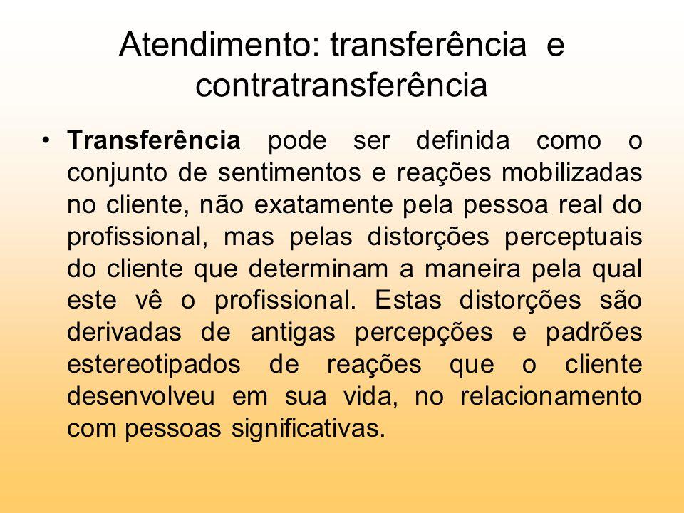 Atendimento: transferência e contratransferência