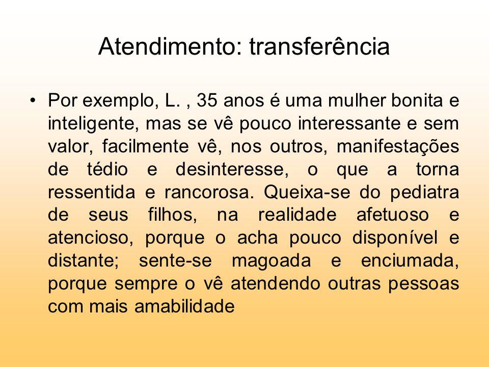 Atendimento: transferência