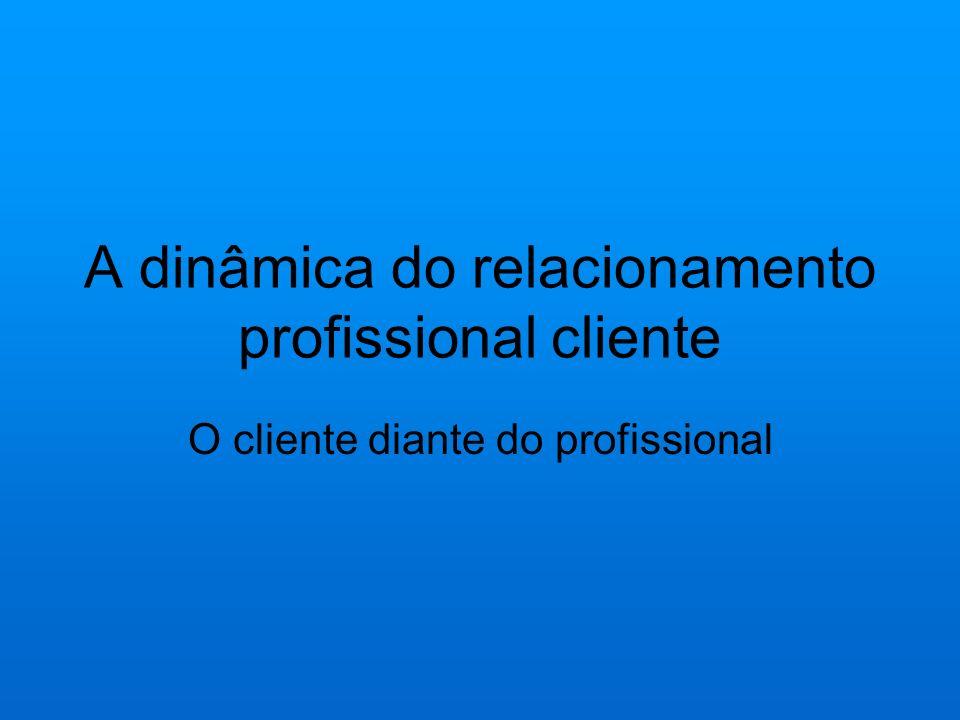A dinâmica do relacionamento profissional cliente