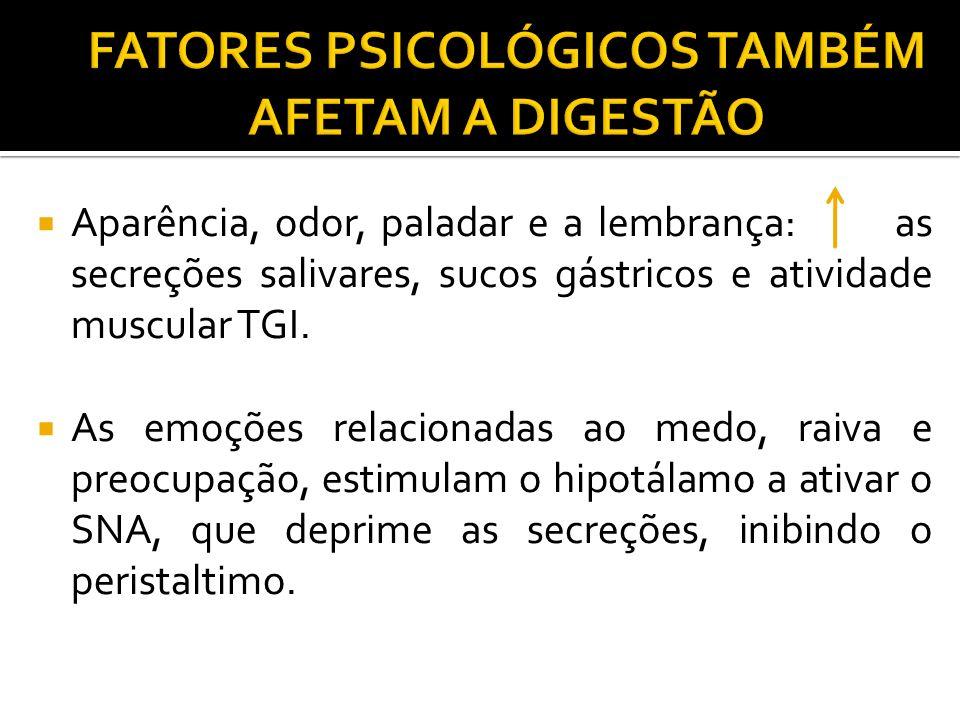 FATORES PSICOLÓGICOS TAMBÉM AFETAM A DIGESTÃO