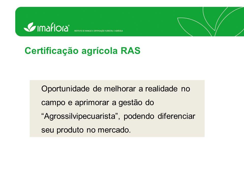 Certificação agrícola RAS