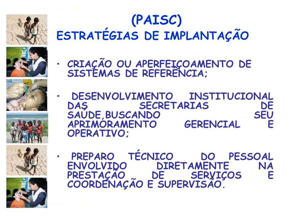 (PAISC) ESTRATÉGIAS DE IMPLANTAÇÃO