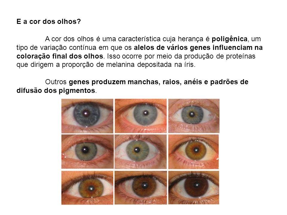 E a cor dos olhos