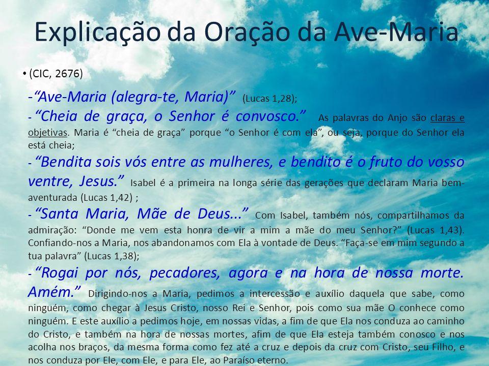 Explicação da Oração da Ave-Maria