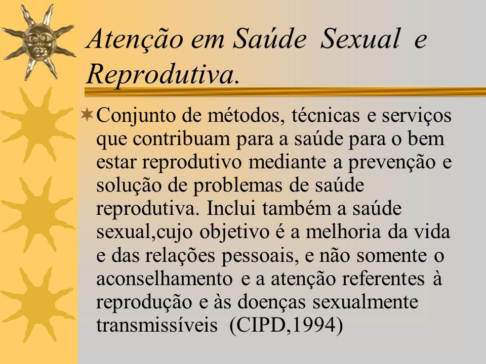 Atenção em Saúde Sexual e Reprodutiva.