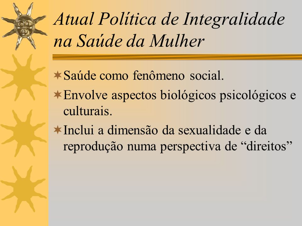 Atual Política de Integralidade na Saúde da Mulher