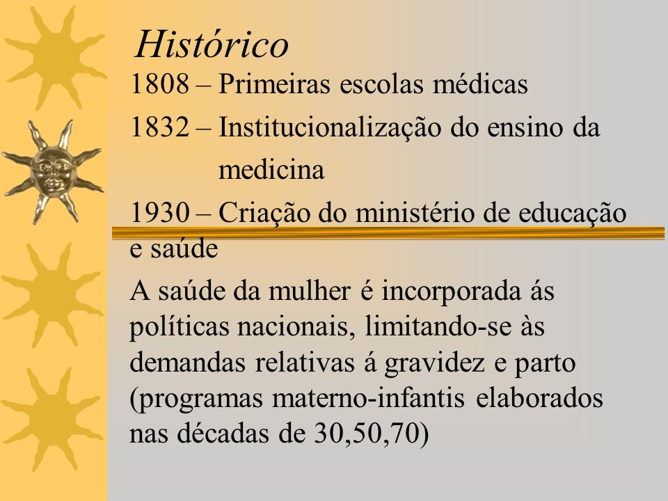 Histórico 1808 – Primeiras escolas médicas